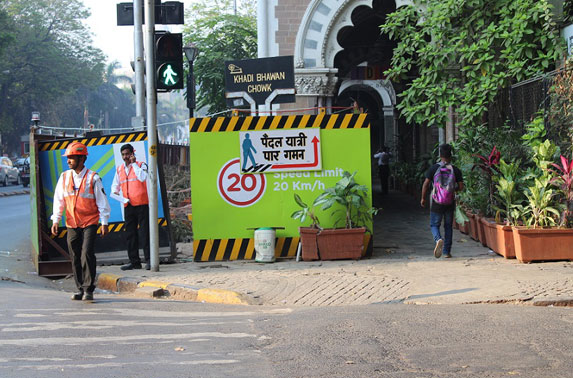Providing directions for safety of pedestrians