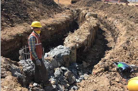 Secant Pile Chipping work start from 23/02/2017 at Mid Shaft area (Pali Ground)