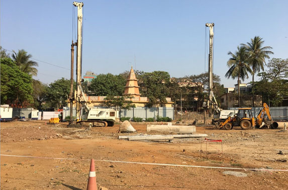 Secant Secondary pile work in progress at Mid Shaft area (Pali Ground)
