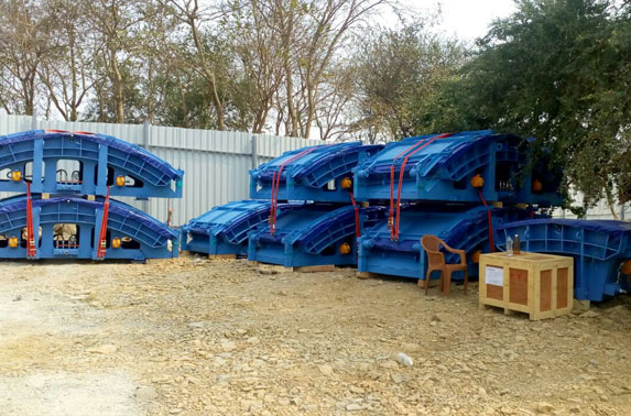 Segment mould received at Casting Yard