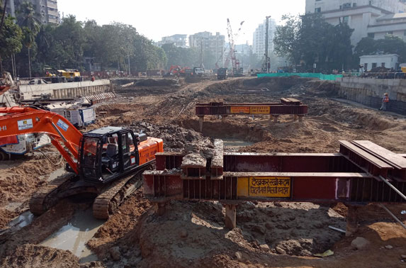 Siddhivinayak shaft excavation works