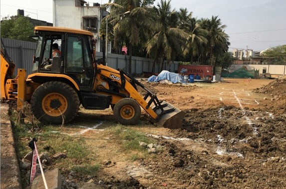 Store foundation work started at Mid Shaft area (Pali Ground)