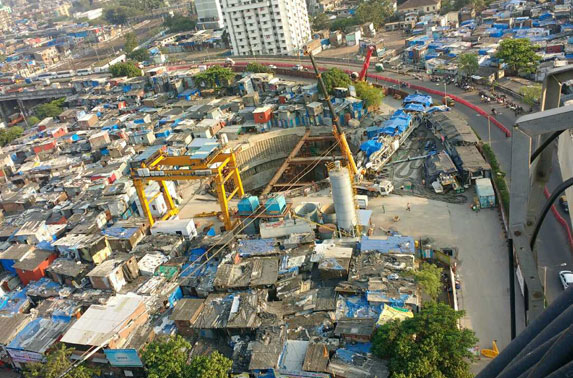 Aerial view of Nayanagar Site