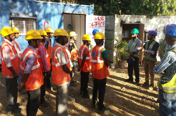 Tool box safety meeting held on every day at Seepz Station