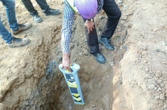 Utility identification work before starting of Bore Hole at Seepz Station