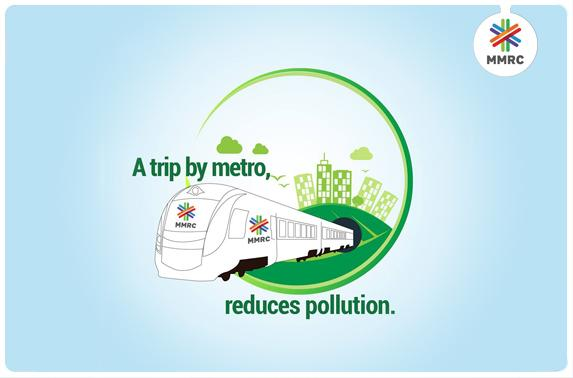 A trip by metro, reduces pollution.