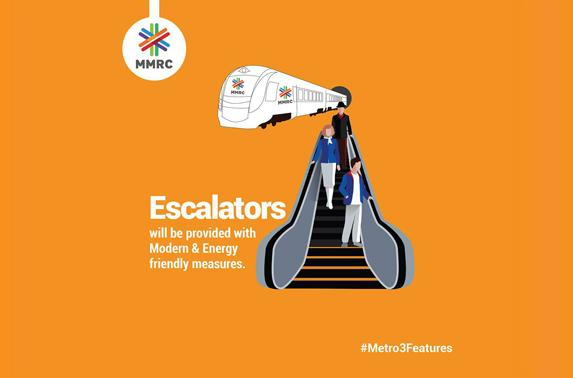 Escalators will be provided with Modern & Energy friendly measures