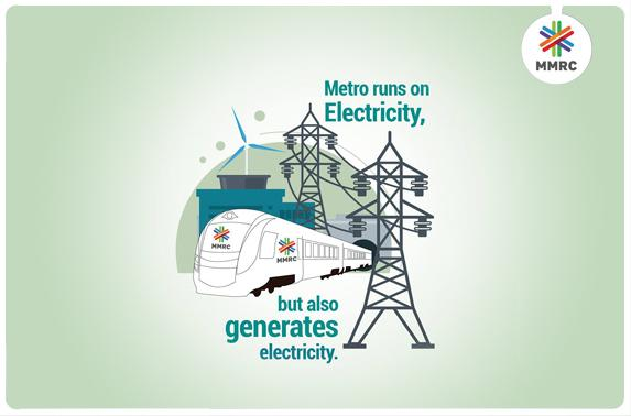 Metro runs on Electricity, but also generates electricity.