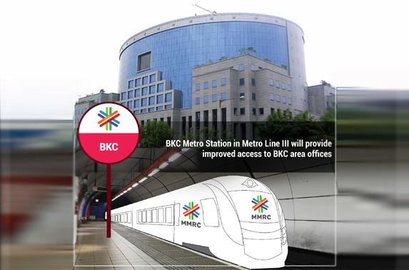 BKC Metro Station in Metro Line III will provide improved access to BKC area offices