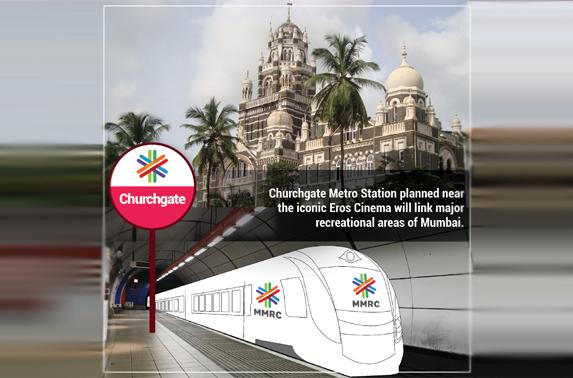 Churchgate Metro Station planned near the iconic Eros Cinema will link major recreational areas of Mumbai
