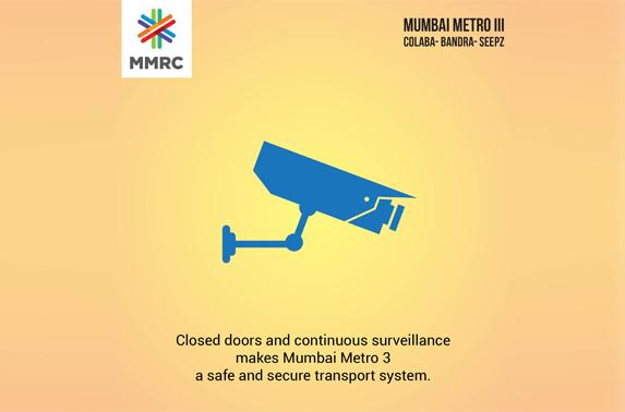 Closed doors and continuous surveillance makes Mumbai Metro 3 a safe and secure transport system