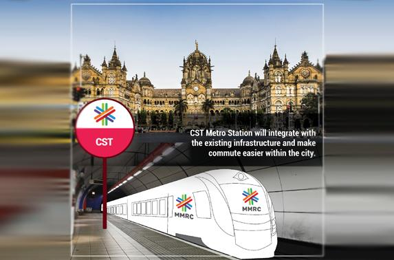 CST Metro Station will integrate with the existing infrastructure and make commute easier within the city