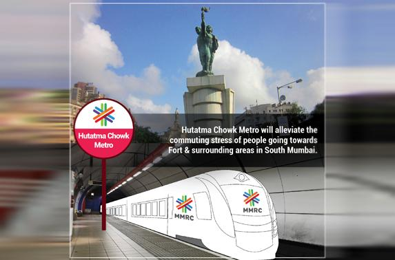 Hutatma Chowk Metro will alleviate the commuting stress of people going towards Fort & surrounding areas in South Mumbai