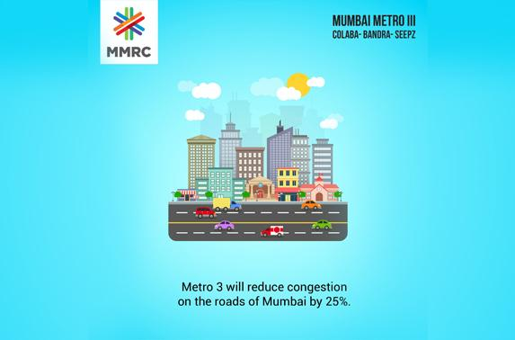 Metro 3 will reduce congestion on the roads of mumbai by 25%