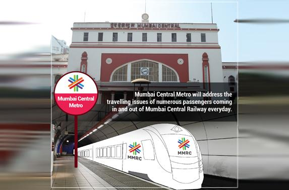 Mumbai Central Metro will address the travelling issues of numerous passengers coming in and out of Mumbai Central Railway everyday